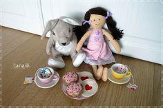 Čaj a koláčiky pre bábiky / Teabags and felt cookies for dolls - free pattern