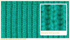 Muestrario de Puntos Baby Knitting Patterns, Knitting Stitches, Crochet Art, Rib Knit, Tatting, Free Pattern, Diy And Crafts, Weaving, Santa Clara