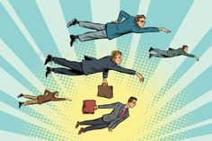 Businessmen Are Floating in the Air - People Characters Download here : https://graphicriver.net/item/businessmen-are-floating-in-the-air/20107154?s_rank=259&ref=Al-fatih