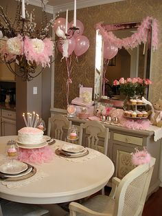 pink girly party idea....for my girls or even adult girl friends :))