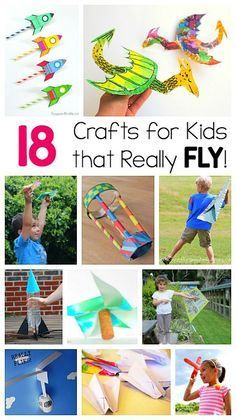 FUN! 18 Crafts for Kids that Can Really Fly! Including paper airplanes, pinwheels, helicopters, kites, and more! (Fun for kids who love STEM and design activities!)