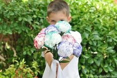 Tissue flowers - simple to do!