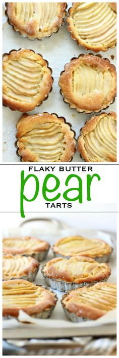 Sliced pears baked in a flaky pastry tart | Foodness Gracious