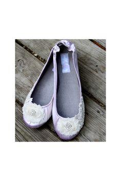 Edwardian inspired ballet flats, Model