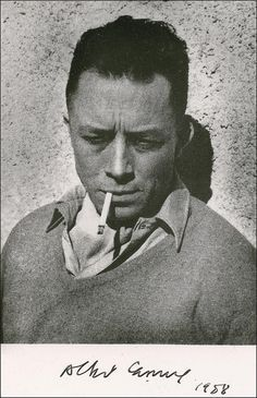 albert camus portrait Albert Camus - French Nobel Prize winning author, journalist, and philosopher. His views contributed to the rise of the philosophy known as absurdism. Albert Camus, Book Writer, Book Authors, Inspirer Les Gens, Portrait Studio, Writers And Poets, Portraits, Famous People, Face