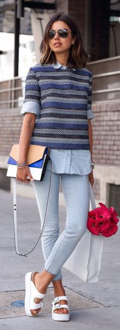 Shades Of Blue Outfit Idea by Vivaluxury