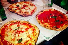 The famous pizza from Naples, Italy