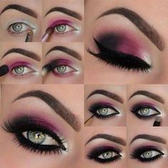 How to apply eyeshadow this is the best diagram i have seen yet 13 glamorous smoky eye makeup tutorials for stunning party night out look ccuart Gallery