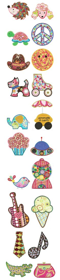Embroidery   Free Machine Embroidery Designs  Jumbo Just For Fun Applique
