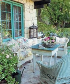 Shabby Chic Outdoor Spaces On Pinterest Porches