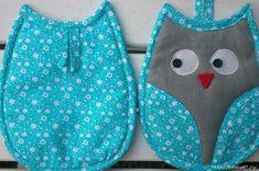 34 (700x465, 352Kb) Potholder Patterns, Owl Patterns, Sewing Patterns, Easy Sewing Projects, Quilting Projects, Sewing Crafts, Owl Applique, Quilted Potholders, Jean Crafts