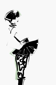 Fashion illustrations by Kathy Murysina