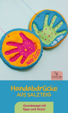 Make handprints from salt dough (recipe and handicraft instructions)
