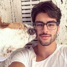 Mooie mannen met bril
