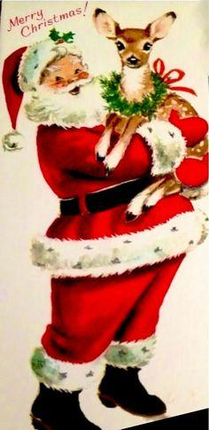 Santa Holding a Reindeer