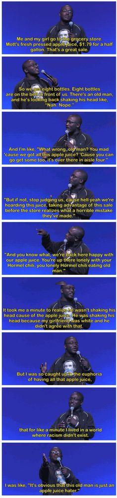 Racism vs apple juice.