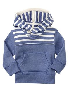 Baby Gap | Striped terry hoodie