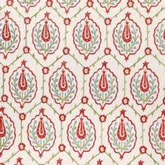 Vaughan Designs | Mosul Embroidered Linen Detail