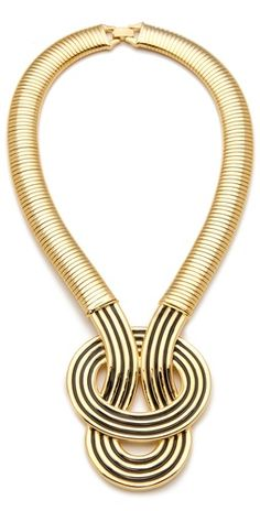 Enamel Knot Necklace // Kenneth Jay Lane