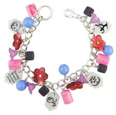 Amy Catherine Designs Handcrafted Owl Purple Stretch Charm Bracelet