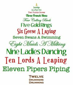 St Lucy S Day The Twelve Days Of Christmas And A