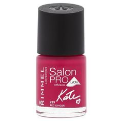 Rimmel Kate Salon Pro Nail Polish - Red Ginger ($6.75) ❤ liked on Polyvore featuring beauty products, nail care, nail polish, red gel nail polish, rimmel, gel nail polish and gel nail color