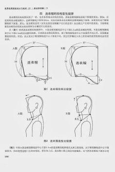 Chinese method of pattern making .capuche (hood) #sewing #patternmaking