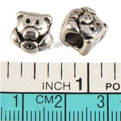Zinc Alloy Animal Large Hole Beads,Pig,Plated,Cadmium And Lead Free,Various Color For Choice,Approx 10*10*9.5mm,Hole:Approx 5mm,Sold By Bags,No 010114
