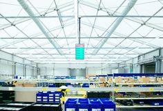 Die Hallen sind isoliert sowie mit Heiz- und Klimatechnik ausgestattet.