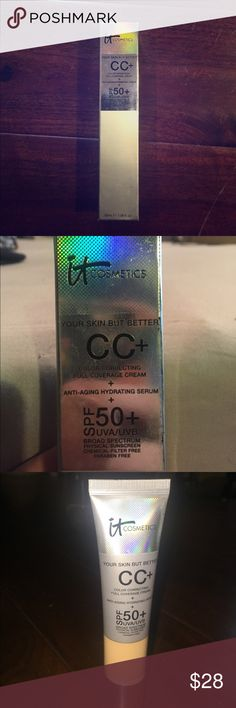 it Cosmetics CC cream Brand new it cosmetics color correcting full coverage cream & anti-aging hydrating strum & spf 50+uva/uvb. Color: Medium. Brand new. Never used. it Cosmetics Makeup Foundation