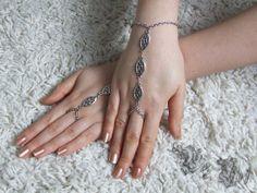 Pair of Ornate Filigree Slave Bracelets Gothic by BizArtGallery, $20.00