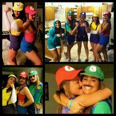 Group Costumes   Its no party if its not a Mario party. #tfm