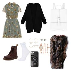 """""""Spring me """" by fortesajakupi12 on Polyvore featuring Valentino, Dr. Martens, Topshop, Meli Melo, Daisy Jewellery, Anne Klein, Casetify, women's clothing, women's fashion and women"""