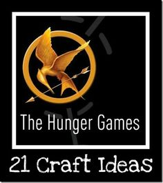 I recognize that this makes me a complete and total nerd, but how can you not love that there are craft ideas for The Hunger Games?!