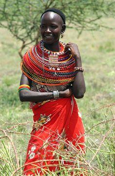 Mujer Massai, Tanzania.