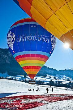 Chateau-d'Oex Balloon Festival- Chateau-d'Oex Balloon Festival Chateau-d'Oex Balloon Festival, Switzerland - Air Ballon, Hot Air Balloon, Zurich, Beautiful World, Beautiful Places, Balloon Flights, Balloon Rides, Seen, France