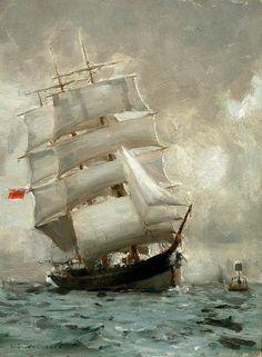 Henry Scott Tuke - Rounding the Manacle Buoy