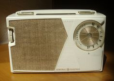 1962 Vintage General Electric Model P808J portable transistor radio.  An excellent example of a quality, well performing transistor radio from the early 1960's.  I found this one as a basket case in a yard sale about 1985.  It works beautifully.