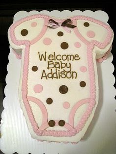 Onesie Baby Shower Cake..obviously can decorate for boy or girl.