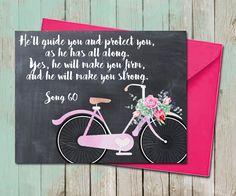 Floral Bicycle Friendship Greeting Card Chalkboard Encouragement Sympathy Song… #typography #scriptureprint #jwprintart #handlettering #calligraphy #jw #jworg #gifts #etsyseller #printable #bibleverse #baptism #floral #chalkboard #song #greetingcard #card #bicycle #floral #succulent