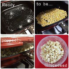 Hubby was watching a movie with his ice cold beer and I popped him a surprise by making his fav salted popcorn! It\'s my first time popping them with my Happy Call Pan. First it was tasteless despite adding salt at the beginning (first pic) then I added butter and salt, and it was kinda too salty! XD Nevermind, I\'ll learn and try again and again. Practice makes perfect! ^^