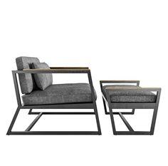 Пуф Horizon от Cube44 станет отличным дополнением к креслу. Стальной каркас покрыт стойкой полимерной краской, подушка из высококачественного материала
