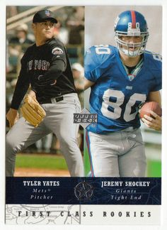 Tyler Yates / Jeremy Shockey # 281 - 2002-03 Upper Deck Superstars Multi Sports Card - NFL Football / MLB Baseball