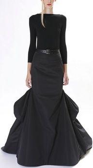 Weddings | Always Bet On Black - Michael Kors Pre-Fall 2013 RTW - #designer #black #skirt