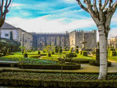 The quiet Garden of Santa Barbara in Braga, alongside the eastern wing of the historical Archbishop's Palace, still maintains the remains of the medieval arcade #Europe #Portugal #Braga #garden #historical #palace #medieval #photography #art #imoutoftheoffice #travel #world
