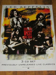 """Led Zeppelin / How The West Was Won / 2003 Atlantic Records Promo Poster / 18"""" x 24"""""""
