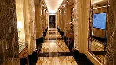 hall way in historc luxury hotel Sparkling Drinks, Cleaning Agent, Stone Flooring, Luxury