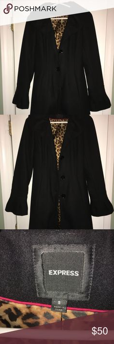 Women's Peacoat Women's black size small 3 button peacoat from express. In good condition! Express Jackets & Coats Pea Coats