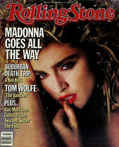 Madonna cover of rolling stone, vintage/old