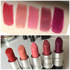 Top 5 #mac #lipsticks: russian red, kinda sexy, please me, amorous, rebel #differentisthebest